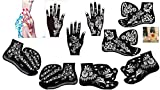 Aktion - Henna Tattoo Schablone Tattoo Vorlage 9 Sheet Set für Körperbemalung SET D