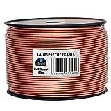 HB-Digital Lautsprecherkabel 2 x 2,5mm² x 50m CCA-Innenleiter PVC- Dielektrikum (transparent) Speaker Cable
