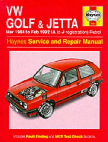Volkswagen Golf and Jetta ('84 to '92) Service and Repair Manual (Haynes Service and Repair Manuals) por Ian Coomber