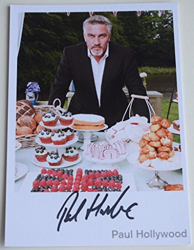 Price comparison product image Sportagraphs Paul Hollywood SIGNED Official 6x4 Photo Autograph Bake Off TV AFTAL & COA