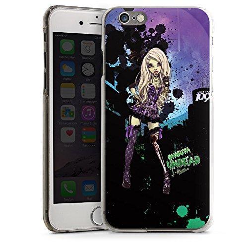 Apple iPhone 5s Housse Étui Protection Coque Art Fille Bande dessinée CasDur transparent