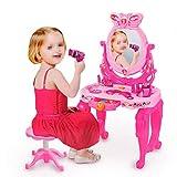 Chyuanhua-Dressing table toy Giocattolo da Toeletta Tavolo E Sedie con Specchi di Bellezza E Accessori for Giocare Set con Accessori Moda E Trucco for Ragazze Giocattoli da Toilette per Bambini