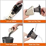 HOTOR Corded Car Vacuum Cleaner with LED Light, DC12-Volt Wet/Dry Portable Handheld Auto Vacuum Cleaner for Car,16.4… 14
