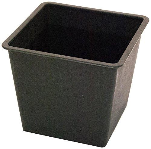 einsatz fuer pflanzkuebel Kunststoffeinsatz quadratisch konisch 34x34x31cm schwarz.