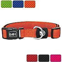 [Gesponsert]DDOXX Hundehalsband aus Air Mesh | für große, mittelgroße, mittlere & kleine Hunde | verschiedene Farben & Größen | Hunde-Halsband | Katzenhalsband | Halsung | Orange, XS - 1,5 x 21-30 cm