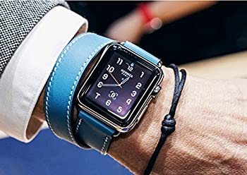 Apple Watch Strap 42mm, Sundaree® Vintage Genuine Leather Strap Wrist Band Replacement Classic Buckle With Metal Clasp For Apple Iwatch & Sport & Edition 42mm (Blue-42mm) 1