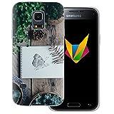 dessana Frühling transparente Silikon TPU Schutzhülle 0,7mm dünne Handy Soft Case für Samsung Galaxy S5 mini Schmetterling Garten