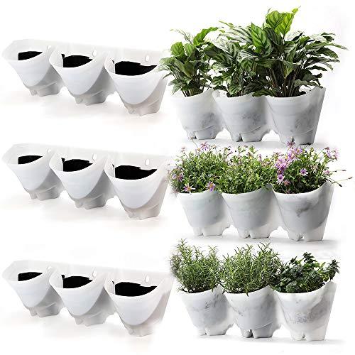 worth garden fioriera da giardino autunnale 3 set fioriera da giardino verticale con 9 tasche casa/giardino/patio