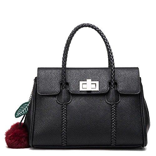 CELO in pelle goffrata spalla borsa casuale diagonale pacchetto Ms europea e americana della moda platino borsa da polso in pelle , gray black