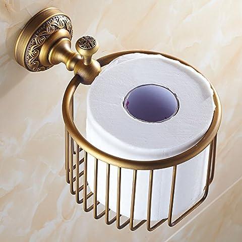 SBWYLT-Antigua papelera papel toalla estante baño estante de la toalla estante cosméticos multifunción de cobre