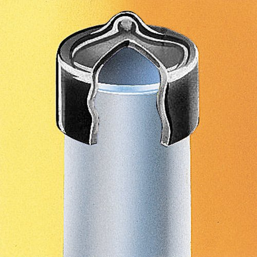 """Thomafluid Rundkappe aus PVC-P (Weich-PVC) - hitzebeständig, für Gewinde: M8:UNF 5/16"""", d: 7,7 mm, h: 13 mm, 50 Stück"""