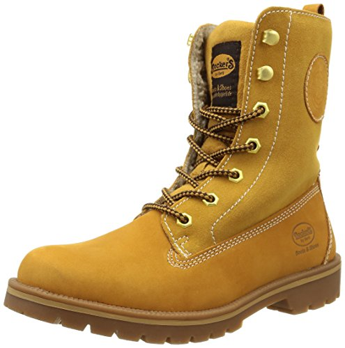 Dockers 35aa305, Bottes De Fille Jaune (golden Tan)