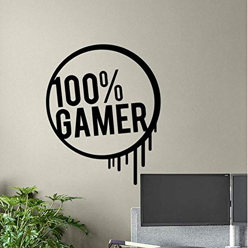 westuceyo Gamer wandtattoo gamer poster gamingzeichen zitat spielzimmer vinyl aufkleber hauptwand gamervideoschlafzimmer dekor 51x42 cm (Halloween Film Zeichen)