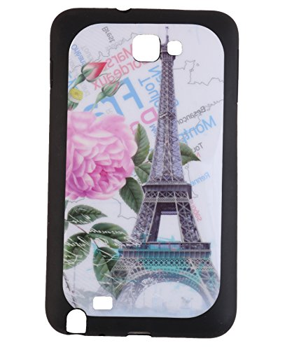 iCandy Matte Finish Soft Rubber Printed Back Cover for Samsung Galaxy Note N7000 / S9220 - Rose Eiffle  available at amazon for Rs.99
