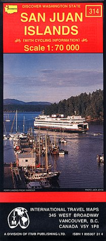 San Juan Islands Travel Map