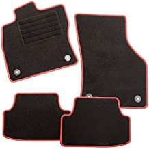 CarFashion 225643 - Alfombrillas para VW Golf 4, Modelo: 11.1999.05.2001, modelo Exqui Plus con bordes en rojo