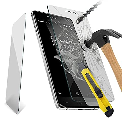 (Pack Of 4) OnePlus 3 Tempered Glass Screen Protector Cover for OnePlus 3 Screen Protectors Crystal Clear LCD Screen Protectors Packs+ Polishing Cloth & Application Card
