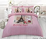 Islander Fashions Farveling Esprit Jackson Amour Paris Polygon Cerf Imprimer Simple Double King Size Housse de Couette Housse de Lit I Love Paris King Size