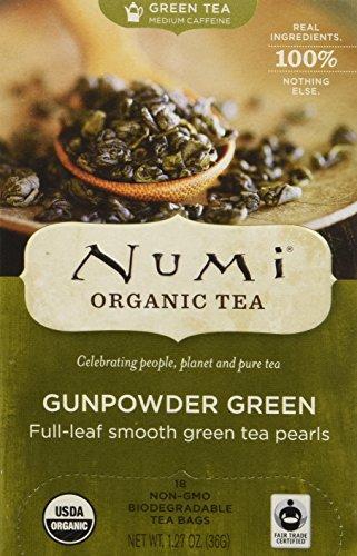 Numi Tee Organic Gunpowder Green 18 Teebeutel