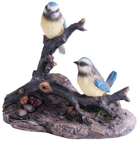 Collectable Animals Mésanges posées sur une branche Bleu