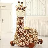 D&L Kinder Giraffe Sofa Hocker,Kreativ Cute Tiere Faul Sitz Sessel Polstermöbel Schuh-hocker-D L85xW50cm