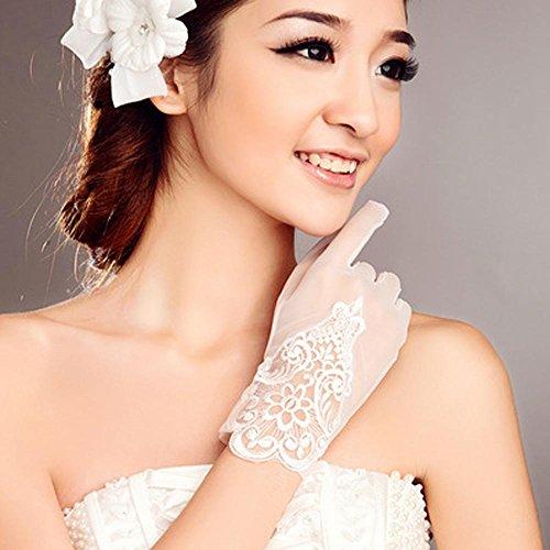 Handgelenk Länge Brauthandschuhe (Handgelenk Länge Fingerspitzen Handschuh Spitze Brauthandschuhe Frühjahr / Sommer / Herbst Spitze)