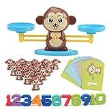 Funmo Apprentissage des mathématiques Jeu Monkey Math, Singe Jeu Match Math Balancing échelle Jeu Montessori Jouet éducatif Mathematic Outil Jouet éducatif (Ensemble de 65 pièces)