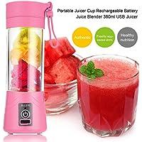 TOOGOO 380ml Vaso botella de licuadora recargable USB Batidora de citricos de jugo Exprimidores de batido