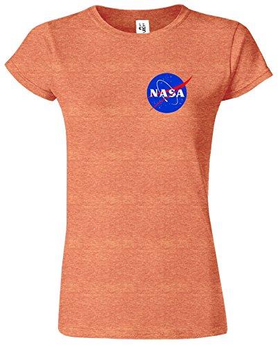 Nasa National Space Packet Pocket America Dames T Top T-Shirt Bruyère d' Orange