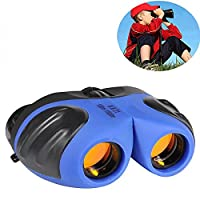 Binoculars for Children, DMbaby 8x21 Compact Telescope Boys Gifts 10 Years Old to Wildlife & Theater Blue DL02