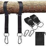 Schaukel Befestigung - 1 Paar Swing Hanging Gurt Kit Hängematte Schaukel Befestigung - Hängematte Hängesessel Befestigungs-Set mit 2 Karabinern für für schaukel garten und hängematten (150*5cm)