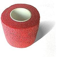 LisaCare Fixierbinde 5cm x 4,5m | 2er-Set Farbe Rot | Kohäsive Bandage | Wundverband | Pflasterverband | elastisch... preisvergleich bei billige-tabletten.eu