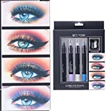 Eyeshadow Lidschatten Palette Professional |Highlighter Kosmetische Matte |Augenschatten Makeup | WINWINTOM MISS YOUNG 4 Pearlescent Kleine Lidschatten Stift Kombination Box Für Durable Waterpr
