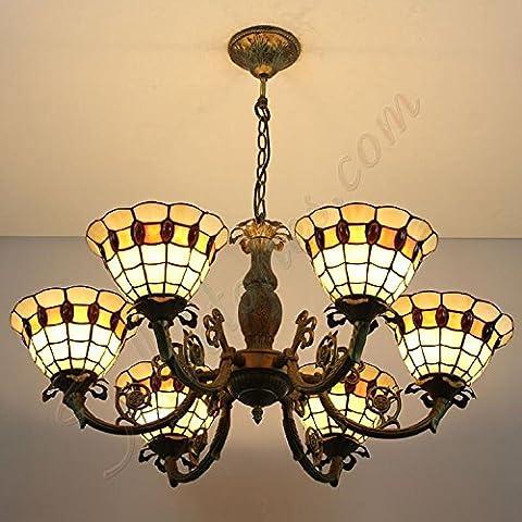 Luce del Pendente semplice Retro squamosa di vetro fatto a mano classico selvaggio creativo lampadario con 6 luci