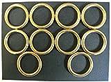 25mm massivem Messing O-Ringe X2, X5, X10ideal für Hundeleinen, Halsbänder, Pferd, herrscht, Leder, Basteln, 25 mm