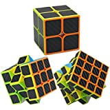 Magic Cube Set, fibra de carbono Cubo mágico Puzzle 2x2x2,3x3x3,4x4x4