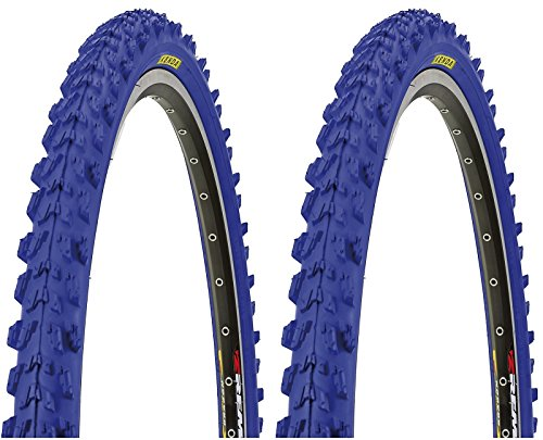 2 x Kenda MTB Reifen farbige Fahrradreifen 26 Zoll 50-559 26 x 1.95 (BLAU)