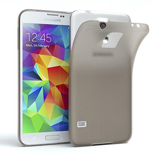 EAZY CASE GmbH Hülle für Samsung Galaxy S5 / S5 LTE+ / S5 Duos / S5 Neo Schutzhülle Silikon, matt & Ultra dünn, Slimcover, Handyhülle, Hülle/Soft Case, Silikonhülle, Backcover, Hellgrau