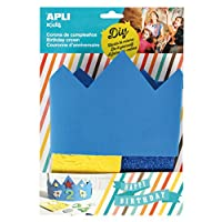Apli kids 14478 EVA Foam Blue Birthday Crown Fits All (One Size)