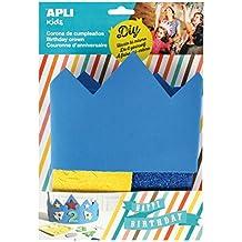 APLI Kids - Corona cumpleaños goma EVA azul, ...