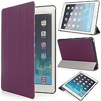 iHarbort® iPad Air 2 Hülle - Premium PU Leder Tasche Hülle Etui Schutzhülle Ständer für iPad Air 2, mit Schlaf / Wach-up-Funktion (iPad Air 2, Lila)