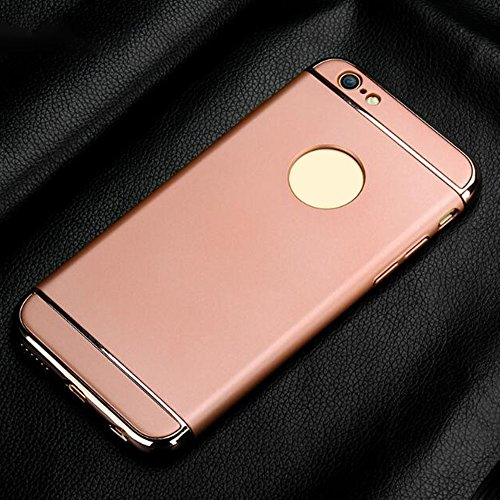 Cuitan 3 in 1 PC Harte Schutzhülle für Apple iPhone 6 plus / 6s plus (5,5 Zoll), mit Electroplate Bumper Rück Abdeckung Back Cover Voll Protective Case Hülle Handytasche Rückseite Tasche Handyhülle fü Rose Gold
