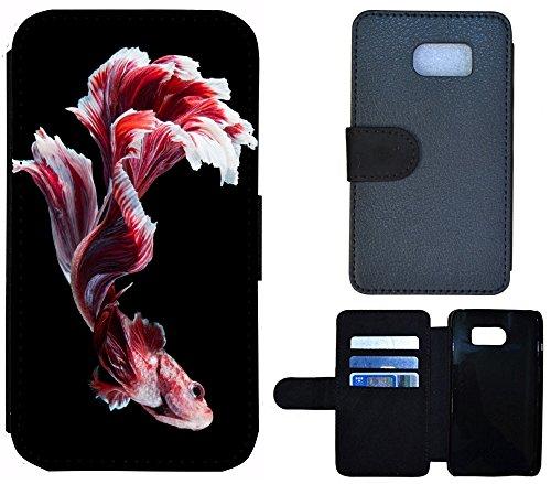 Flip Cover Schutz Hülle Handy Tasche Etui Case für (Apple iPhone 5 / 5s, 1272 Schildkröte Meer Blau) 1266 Fisch Rot Schwarz