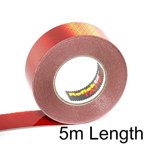 Ruban Rouge réfléchissant Reflexite véhicule (ECE 104) 5 MÈTRES 50 millimètre Larges