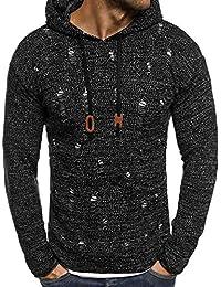 Pullover Herren Herbst Winter Pullover Strickjacke Mantel mit Kapuze Pullover Jacke Outwear