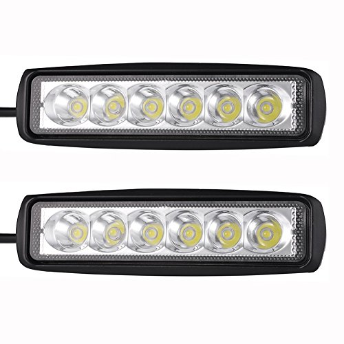"Preisvergleich Produktbild 2-Pack 6.3 ""18W 6000K 10-30V DC Tageslicht LED Arbeitsleuchte Spot Strahlantrieb Nebelscheinwerfer"