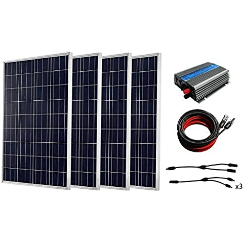 ECO-WORTHY 1000 W completo Kit Solar: 10 * 100 W Panel Solar con 1 kW inversor para RV casa Kit,