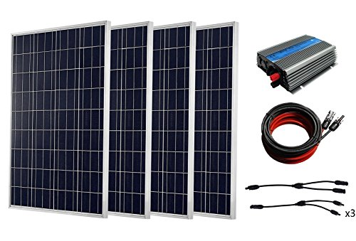 ECO-WORTHY 1000 W completo Kit Solar: 10 * 100 W Panel Solar con 1 kW inversor para RV casa Kit, 400W
