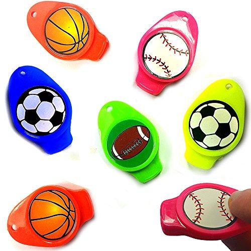 German Trendseller 6 x Sport Pfeifen - für Kinder ★ Neu ★ ┃ Kindergeburtstags Mix ┃ Mitgebsel ┃ Bunte Farben ┃ Bälle ┃ 6 Stück