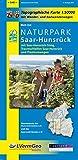 Naturpark Saar-Hunsrück, Blatt Ost, mit Saar-Hunsrück-Steig, Traumschleifen Saar-Hunsrück und Premiumwegen (Saarland): Naturparkkarte 1:50000 mit ... Rheinland-Pfalz 1:50000 /1:100000) - Landesamt für Vermessung und Geobasisinformation Rheinland-Pfalz